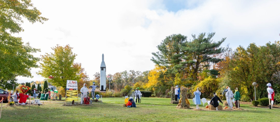 Scarecrow display livens up Goddard Park