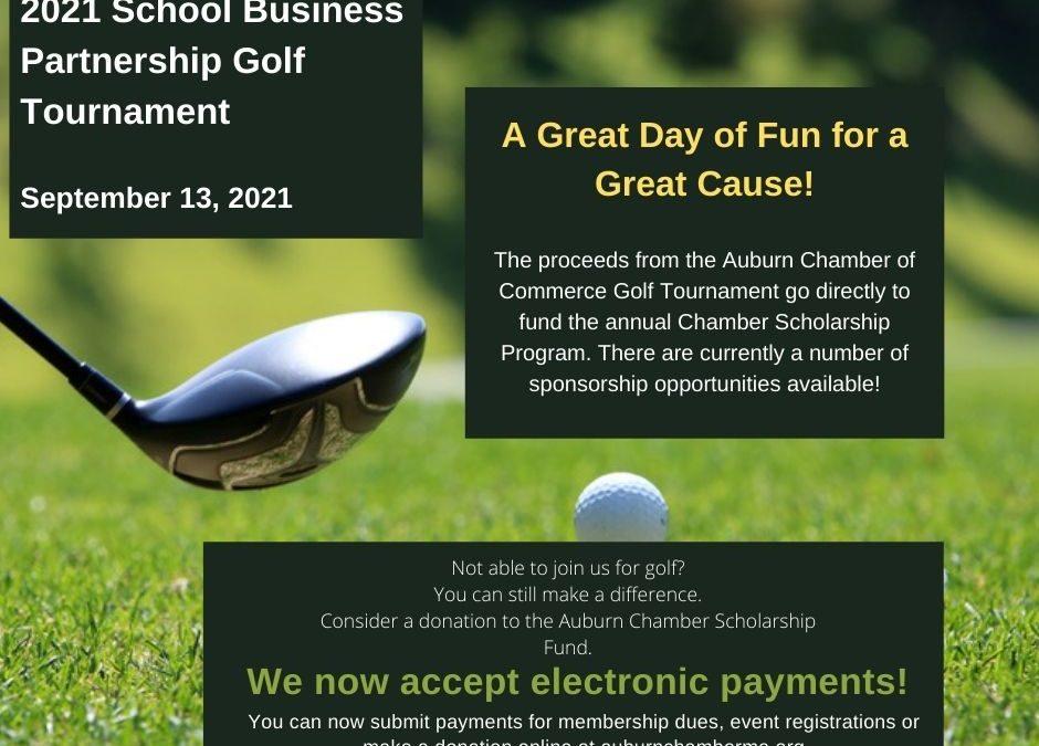 Register Now! Annual School – Business Partnership Golf Tournament September 13, 2021